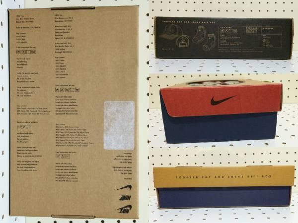 [デッドストック 希少 90s USA]NIKE TODDLER CAP AND SOCKS GIFT BOX キッズ キャップ ソックス ギフトセット 2T-4T_画像2