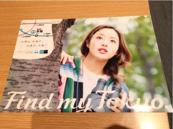 非売品 レア 石原さとみ 東京メトロ クリアファイル 木場 find my tokyo グッズの画像