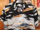 ビンテージ アロハ,戦闘機柄、ゼロ戦 、富士山柄、S−M,オア グローリー。 ハワイアン シャツ,,バイカー、サイケ、サンサーフ/マッコイ