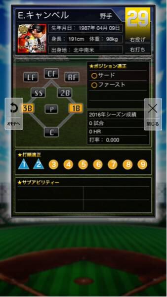 プロ野球PRIDEプライド 阪神 2 爆 プレミア キャンベル 新品 サード・ファースト◯_画像3