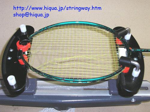 ストリングウェイML100 T92シングルアクション固定クランプバドミントン用ガット張り機ストリングマシンStringway Badminton_バドミントンも張れます