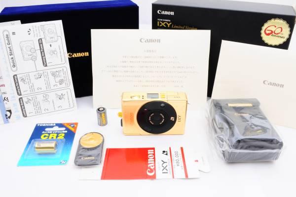 ★奇跡の未使用★入手困難10000台限定!キャノン Canon IXY Gold Limited Ver. 60周年記念 付属品完備、オマケ付!