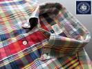 ★美品 希少品 Jプレス J.PRESS ボタンダウンシャツ マドラスチェック Lサイズ POLO VAN JAC VAN RED LABEL Kent