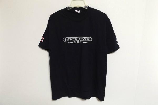 N0572:PUFFY(パフィー)FEVER FEVER TOUR ツアーTシャツ/黒/L:35