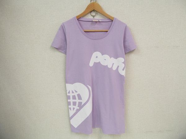 C0045:Perfume パフューム 代々木第一体育館ライブ09年TシャツサイズM/紫:35