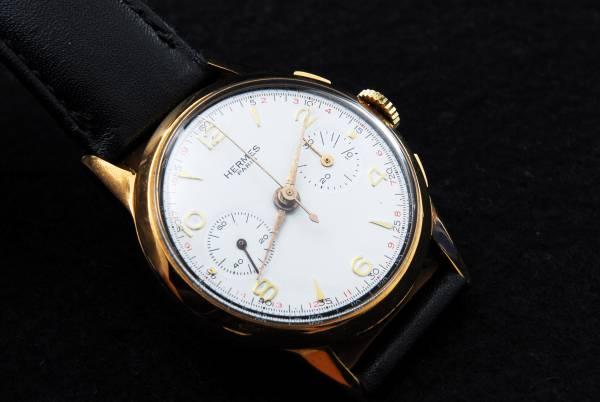 ヴィンテージ エルメス Hermes クロノグラフ手巻腕時計 192813