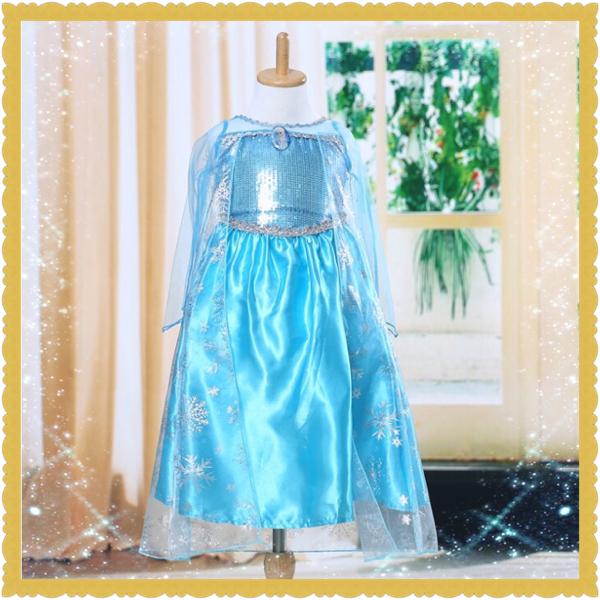 エルサ プリンセス ドレス アナ雪 120cm ディズニーグッズの画像