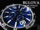 【1円】Bulovaブローバ腕時計クロノグラフメンズCaravelleキャラベルNewYorkクォーツ新品逆輸入モデルアナログオーシャンブルーラバー