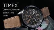 【1円】TIMEXタイメックス輸入モデル腕時計クロノグラフメンズエクスペディション本革レザー新品未使用インディグロExpeditionアナログ