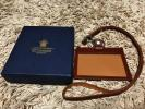 新品 ETTINGER エッティンガー レザー ID カードホルダー CASE パスケース 社員証 ケース ストラップ イギリス製 英国王室 ビジネス 名刺
