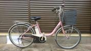 【地域限定でお届け】電動アシスト自転車 Bridgestone  A19 ピンク色 24インチ3段内装変速 バッテリー充電器付き