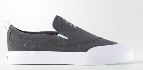 27.5cm●アディダス スケートボーディング マッチコート スリップ 灰  adidas skateboarding MATCHCOURT SLIP ADV グレー B27337_画像1