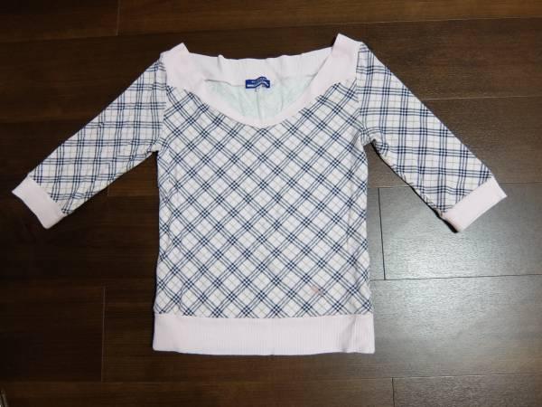 バーバリーのピンクチェックTシャツ38号正規品_画像1