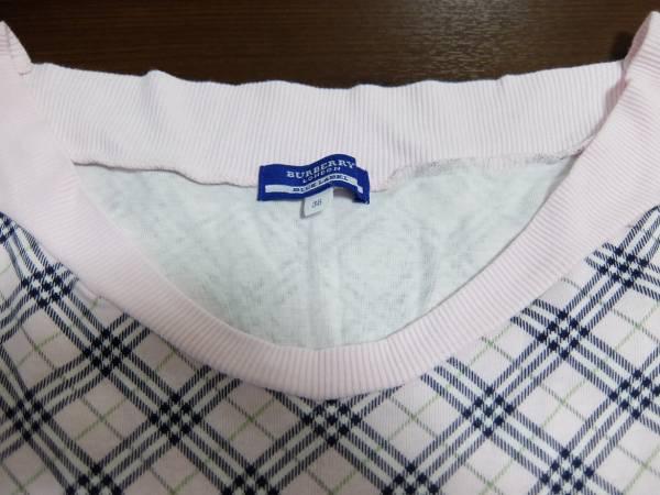 バーバリーのピンクチェックTシャツ38号正規品_画像3