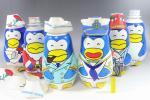 昭和レトロ☆サントリー ペンギン ビール 1.2L ボトル セット その2 帽子あり お正月 クリスマス サンタ 水兵 ファンシー フィギュア