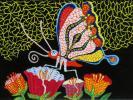 ◎草間彌生《油彩画》肉筆《花園》4号・希少品