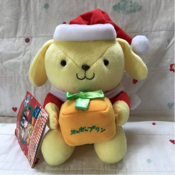 サンリオ ポムポムプリン ぬいぐるみ マスコット クリスマス 人形 2000年 当時物 レア 非売品 プライズ品 グッズの画像