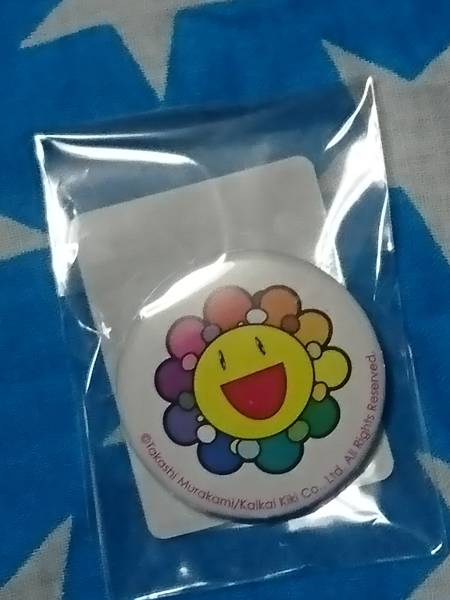 カイカイキキ 缶バッチ バッジ kaikaikiki 新品未使用 村上隆 murakami takashi お花 flower レインボー ゆず BIGBANG ゆめらいおん 送料込