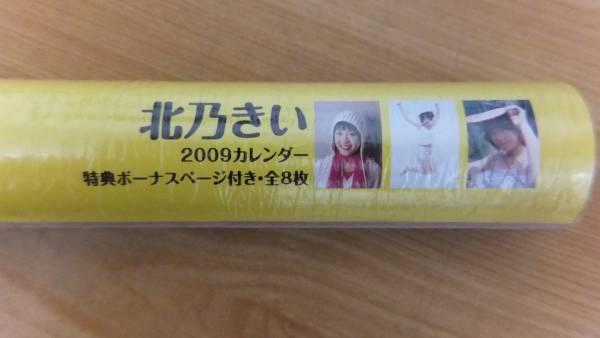 【直筆サイン入】北乃きい 2009年 カレンダー サイン黒