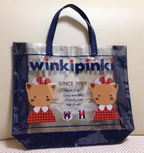 サンリオ1992★winki pinki★ウィンキーピンキー★ビニールバッグ グッズの画像