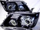 売切!日産セレナ(C26)前期HIDベース4連バイキセノンプロジェクター COBリング&アクリルLEDヘッドライト