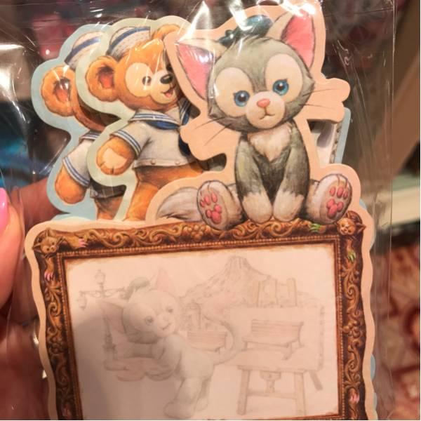 新品ダッフィー ジェラトーニ メモ帳セット 香港ディズニーランドHDL ディズニーグッズの画像