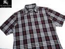 極美品 バーバリーブラックレーベル ブラックノバチェックシャツ 2 日本製