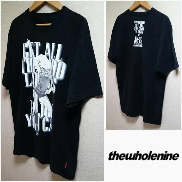 M【THE WHOLE NINE/ホールナイン】ガール柄 メンズ 男性用 Tシャツ ブラック アーティスト ブランド 個性的 インパクト 奇抜 1