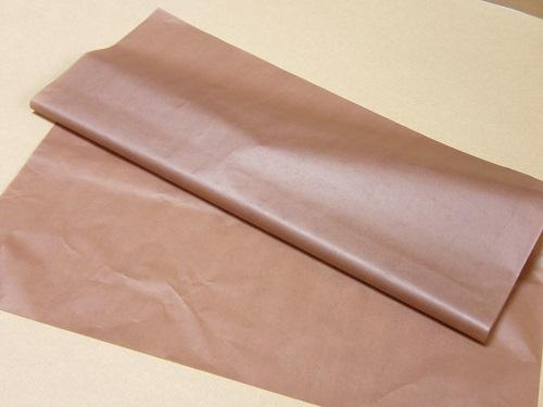 60枚まで送料180円 【薄葉紙】 20枚 ブラウン 包装 洋服 靴 包装紙 薄い紙 ラッピング_画像1
