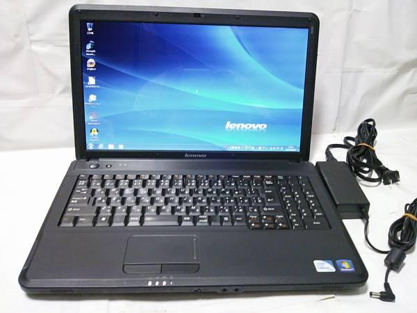 ◇整備済PC/Windows7 32bit Lenovo G550 2コア Celeron Dual-Core T3300 2.00GHz 2GB 320GB DVDハイパーマルチ Webカメラ 無線 即使用◆_画像1