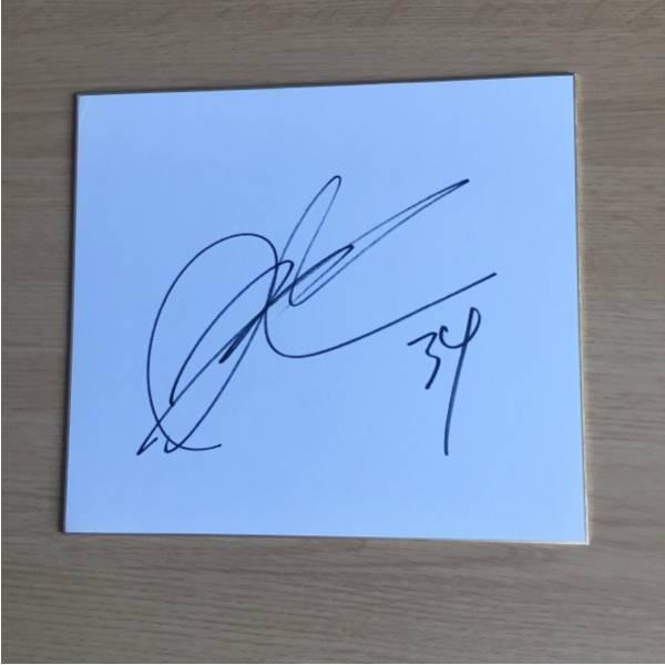 サッカー日本代表 大迫勇也選手直筆サイン色紙 レア新人時代34番 グッズの画像