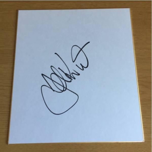 オールブラックス 日本代表監督 ジョンカーワン 直筆サイン色紙 グッズの画像