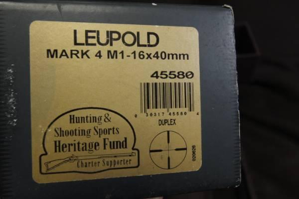 ■実物レアスコープ■ LEUPOLD MARK4 M1 16X40 ◆検索:リューポルド M40 M24 M700 マクミラン トレポン PVS アサヒ 狙撃_画像3
