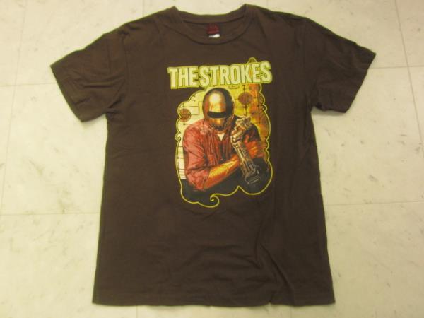 ザ・ストロークス Tシャツ茶SバンドTシャツUSA製 X0609