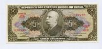 世界の紙幣 ブラジル銀行 5 CRUZEIROS 第2シリーズ 未使用