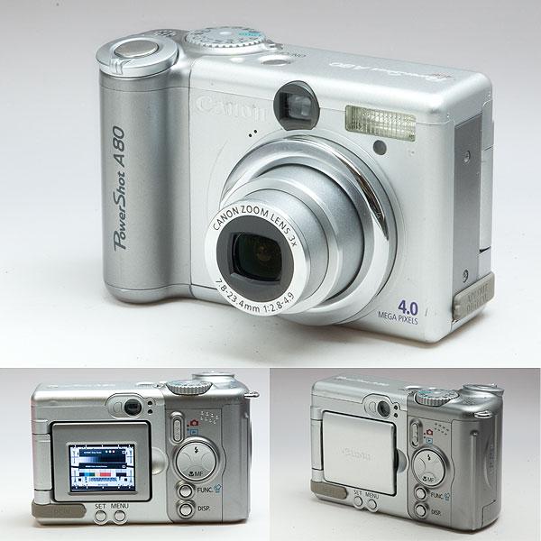単三電池デジカメ Canon PowerShot A80