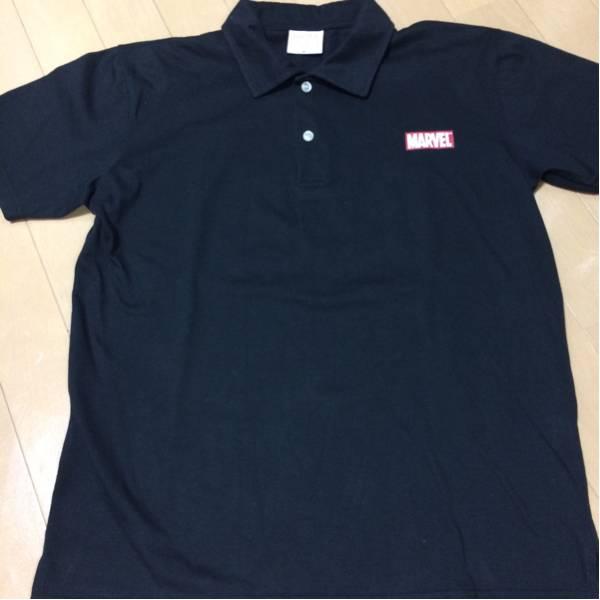 MARVEL マーベル ポロシャツ M ブラック グッズの画像