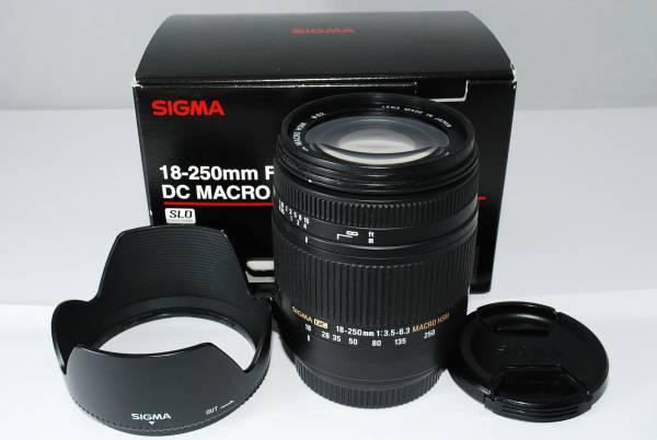 ◆極美品◆SIGMA シグマ 18-250mm F3.5-6.3 DC MACRO HSM SONY ソニー用◆元箱、フード付 M-11J617198-97