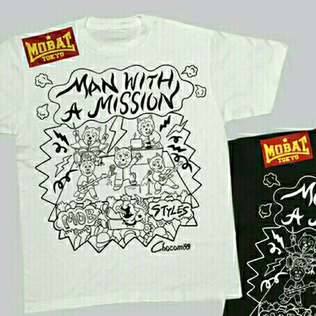 MAN WITH A MISSION × MOBSTYLES コラボ Tシャツ M 新品 マンウィズ ライブグッズの画像