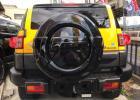 FJクルーザー 純正スペアタイヤカバー ブラック塗装品 バックカメラ穴あり