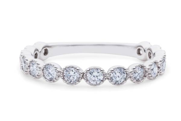【size12号】ハート&キューピット天然diamond 0.54ct H&C 3/4エタニティリング【鑑別書付】