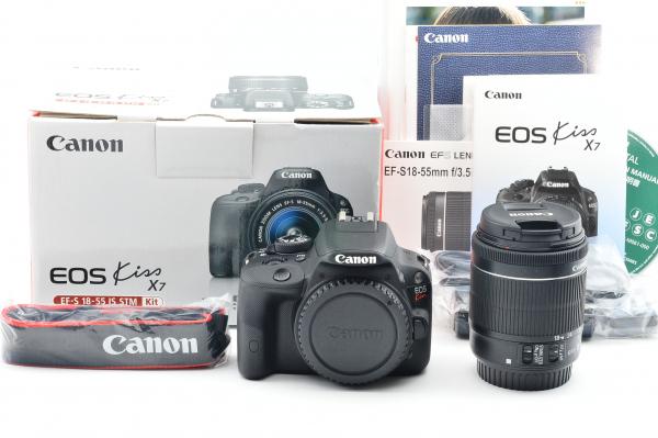 1円~☆シャッター回数 357 新品同様 Canon キヤノン EOS Kiss X7 18-55mm レンズキット デジタル 一眼レフ