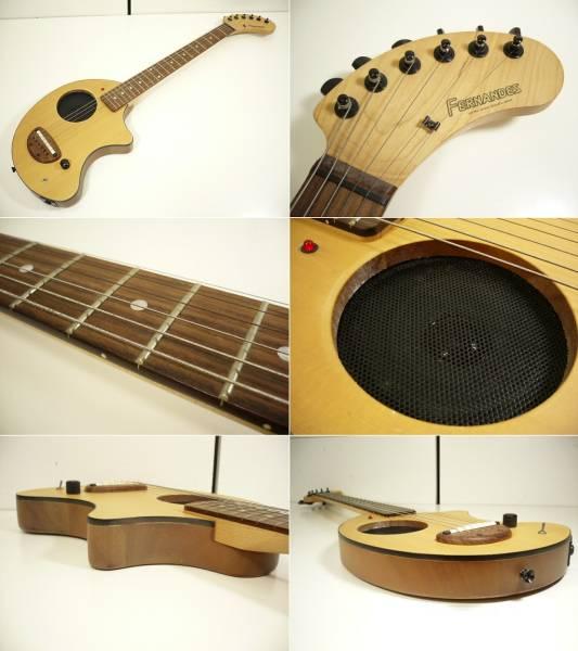 〓FERNANDES/フェルナンデス アンプ内蔵ギター ZO-3 木目調 ぞうさんε_画像2