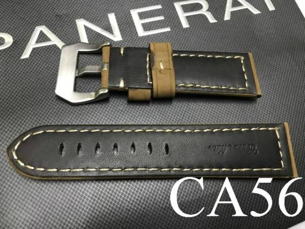 【CousuMain】24mm-22mm★ビンテージカーフ 尾錠付★パネライ PANERAI向 CA56_画像2