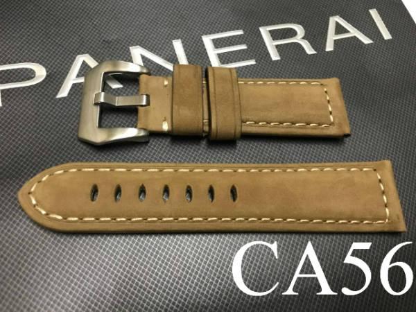 【CousuMain】24mm-22mm★ビンテージカーフ 尾錠付★パネライ PANERAI向 CA56_画像1