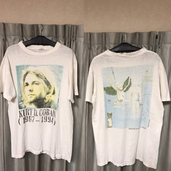 ★希少・レア★ 90s ビンテージ カート コバーン 追悼 Tシャツ NIRVANA ニルヴァーナ KURT COBAIN