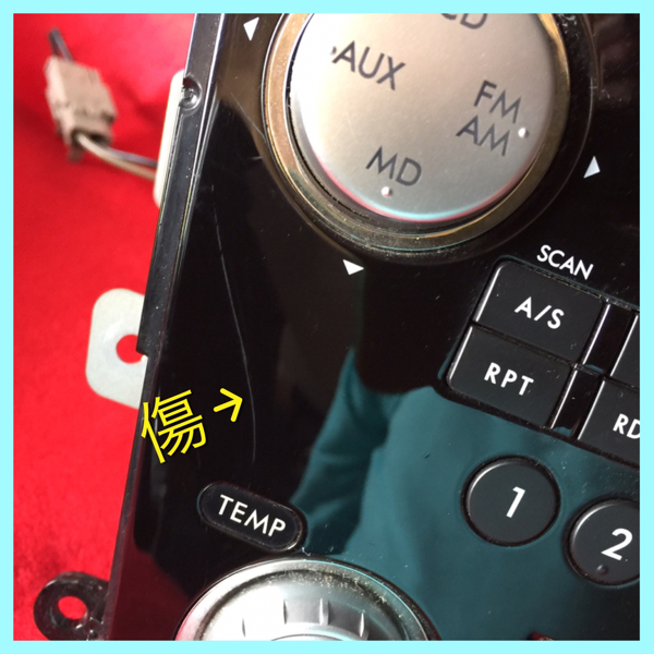 GX-206JE ケンウッド オーディオ 6 CDチェンジャー MD デュアルエアコン 純正 スバル レガシィ B4 BL5 H20年 動作確認済/動作保証 中古_画像2