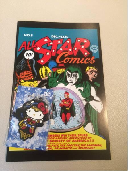 映画 ワンダーウーマン 前売り特典 キーホルダー 初登場DCコミックス限定復刻版 グッズの画像