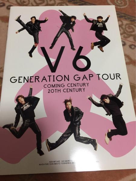 V6 generation gap TOUR パンフレット コンサートグッズの画像