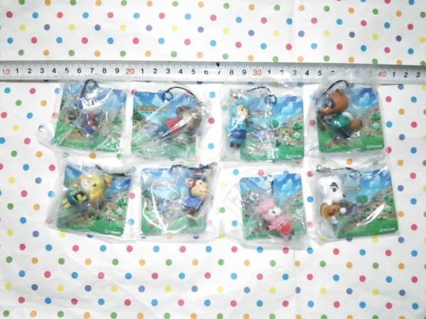 どうぶつの森 マスコット フィギュア 任天堂 ストラップ みしらぬねこ 全8種セット グッズの画像